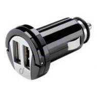 MINI CARGADOR DOBLE TOMA USB DE MECHERO 2A