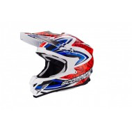 CASCO SCORPION VX-15 EVO AIR REVENGE AZUL ROJO BLANCO