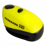 CANDADO DISCO OXFORD C/ALARMA SCREAMER XA7 7MM AMARILLO/NEGRO