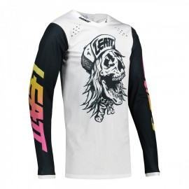 CAMISETA LEATT 4.5 SKULL BLANCO