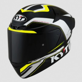 CASCO KYT TT COURSE GRAND PRIX NEGRO/FLUOR