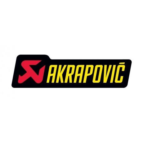 ADHESIVO AKRAPOVIC 150X45 RESISTENTE AL CALOR