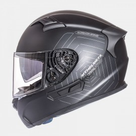 CASCO INTEGRAL MT KRE SV SOLID NEGRO MATE