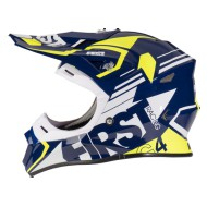 CASCO FIRST RACING G4 FIBRA AZUL