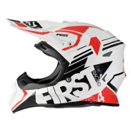 CASCO FIRST RACING G4 FIBRA ROJA