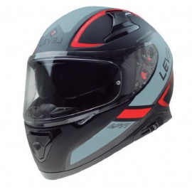 CASCO LEVEL LFT1 TOURING NEGRO/ROJO