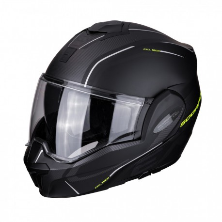 CASCO MODULAR EXO-TECH TIME-OFF NEGRO MATE/FLUOR