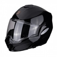 CASCO MODULAR EXO-TECH SOLID NEGRO BRILLO