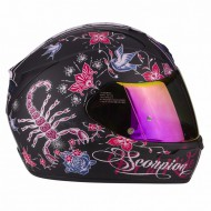 CASCO INTEGRAL SCORPION EXO-390 CHICA NEGRO MATE