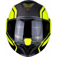 CASCO MODULAR EXO-TECH TIME-OFF NEGRO/FLUOR