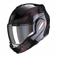 CASCO MODULAR EXO-TECH PULSE NEGRO/ROJO