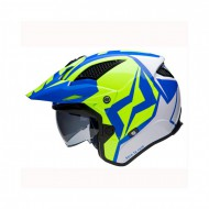 CASCO TRIAL MOTS JUMP UP01 AZUL/FLUOR