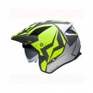 CASCO TRIAL MOTS JUMP UP01 GRIS/FLUOR