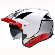 CASCO TRIAL MOTS JUMP UP02 BLANCO/ROJO