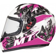 CASCO MT THUNDER BREEZE D8 JUNIOR ROSA PERLA BRILLO