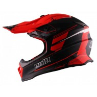 CASCO CROSS/ENDURO JUNIOR UNIK CX-20 NEGRO MATE/ROJO