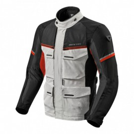 CHAQUETA REV'IT OUTBACK 3 PLATA ROJO